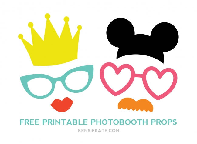 Weddabroad for Photo booth props template free download